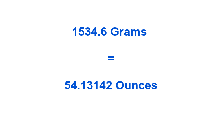 1534.6 Grams to Ounces
