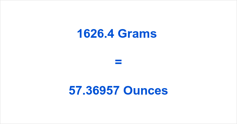 1626.4 Grams to Ounces