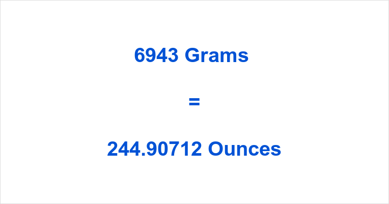 6943 Grams to Ounces – How many ounces in 6943 grams