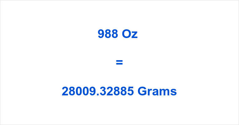 988 Oz in Grams