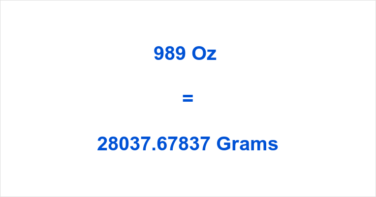 989 Oz in Grams