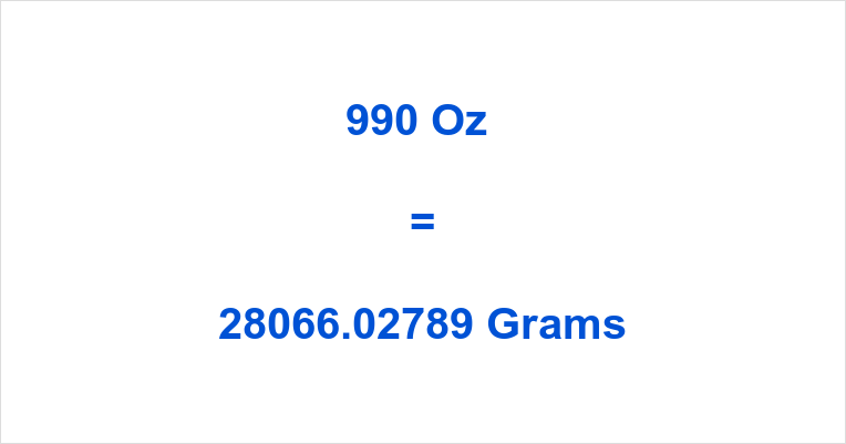 990 Oz in Grams